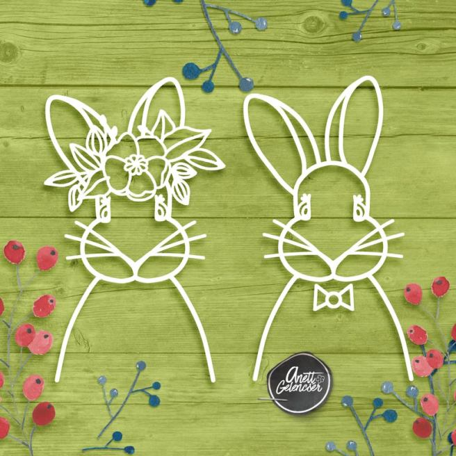 Easter Bunnies Couple